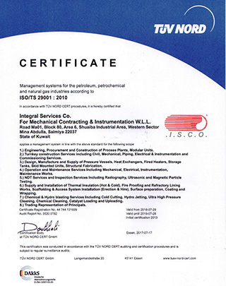 Welcome to ISCO - Integral Services Co  for Mechanical