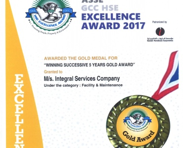 ASSE GCC HSE Excellence Awards 2017 - ISCO - Mechanical Contracting & Instrumentation WLL - Multi Disciplinary Contractor in Kuwait